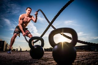 fitness sportsphoto kelbyonepics rggspotlight crossfit advertising portofantwerp fitnessmotivation battleropes sportsphotography imagetting sunset commercial themuscleman commercialphotography nikond850 advertisingphotography