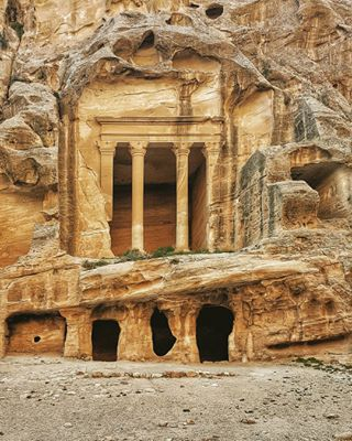 ancient ancientcity arabia archeologicalsite archeology asia carving explore exploreeverything facade instatravel jordan keepexploring middleeast nabatean natgeotravel neverstopexploring petra ruins stone structure temple travel travelgram world worldplaces worldtravel worldtravelpics