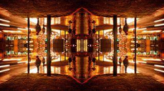 night color longexposure mirror bradford cityparkbd cityatnight colour westyorkshire city mirrorly lights