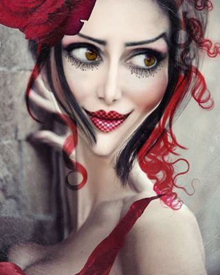 manipulation photoshop aliceinwonderland beautiful woman retouch