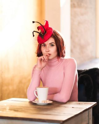 instaphoto pasteltones rouge fashion onlocation woman royal editorial photography window charliewells vintage upload new redhat getready myimagery photographer naturallight imagery newcontent coffee