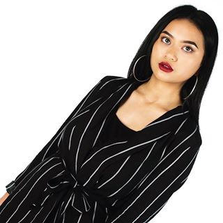 new pose stripedsuit instaphoto upload highkey editorial redlip simplistic newcontent suiting simple charliewells stripes getready myimagery imagery portrait studio photography fashion photographer hoopearrings