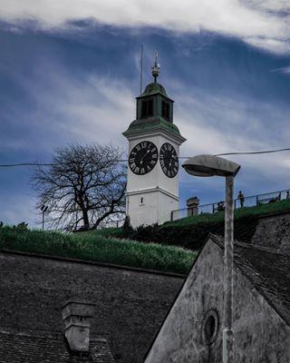 nature building clouds clock novisad vsco gospodinbrada nikon shooting old petrovaradin vojvodina love