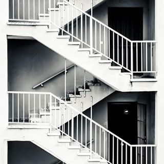 abstractart blackandwhite steps symmetry stairs