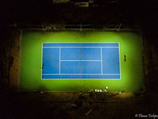 bestoftheday dji djimavicpro dronephotography dronestagram fromwhereidrone instacool instago instagood insta_greece night play shapenlight tennis travel_greece