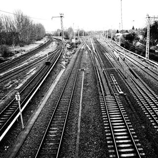 place photography train blackandwhite beautiful away trip