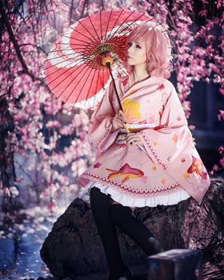 petals cherryblossom kofuko japan beauty spring noragami tradition blossom pink cosplay ebisu geisha