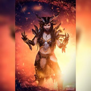 wow beauty editing cosplay worldofwarcraft deathwing fotocon warrior hell wowcosplay angry burning fire rage compositing epic photoshop armor fantasy