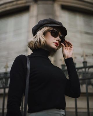 girl french photography sunglasses hat spiritcapture pretty france beret blond beauty