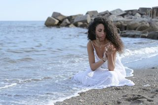 1 girl waves white amalficoast curly shore dress sand nikon sea light picture vietrisulmare nature hair picoftheday italiangirl photography shooting followme places mediterranean italy style mediterranea marcocivalephoto portrait nomakeup