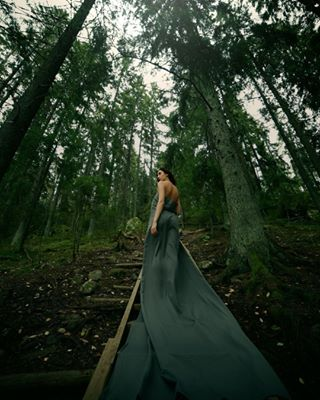 photooftheday portraitphotography firsttry instagood 14mm instadaily finland instaportrait finnishwoods photography finnishautumn woods middleofthewoods green longdress portrait stairs finnishwinter portraits canon6d woodenstairs