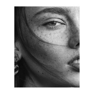 blackandwhiteportrait portrait skin hair munichphotographer beautyphotography beauty blackandwhite freckles closeup