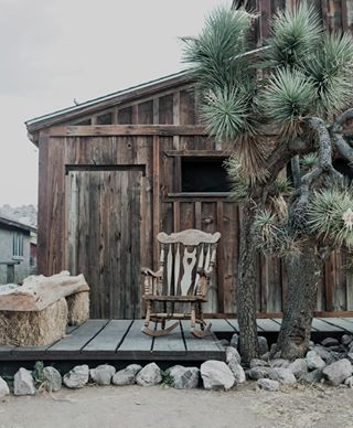 americanwest annamalmbergphoto joshuatree pioneertown porch print rockingchair wildwest