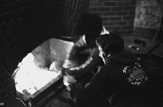 fire filmphotography fisheyelemag argentique film canona1 50mm ilfordhp5 analogisnotdead filmisnotdead analog 50mm14 scouts fireplace ilfordfilm
