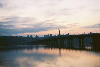 kyivgram dnipro film zenit kyiv київ landscape view kodak плівка river