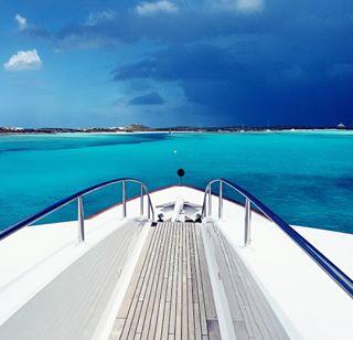 sea storm yachting yachtladyj blue thunder sailing yacht rain clouds tropical bahamas