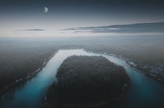 2017 dark december dji djimavic drone evening fog instagood lake landscape landscapes mood nature naturephotography photooftheday picoftheday poland polandisbeautiful travel travelphotography