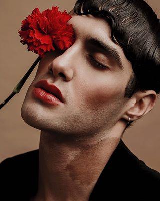 editorial portraitphotography art beauty beautyphotography photography intersexual androgynous red portrait_perfection beautyshoot makeup beautystory portrait