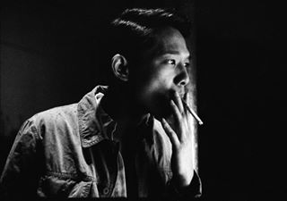 noir d76 monochrom svenwagenfeld filmneverdie smoking ilford nikonf2 delta3200 grainy portrait_shots analogfeatures bw