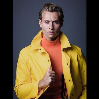 fotografm contrast styleoftheday style face straight colour yellow fashion fashionshoots orange personality portrait portraitphotography model michaellechzer