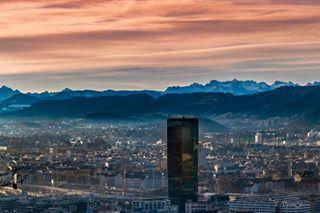 city zurich morningsky primetower primetowerzurich züri switzerland sunrise citylights cityview swissmountains beautifulcity skyporn zhwelt cityphotography visitzurich mycity