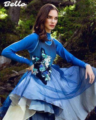 dress publication magazine model fashionshoot