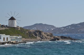 wonderful_mykonos windy windmills waves summer2k17 summer sea mykonos likeforlike like4like landscape ig_greece greece