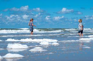 netherlands beach clouds northsea waves