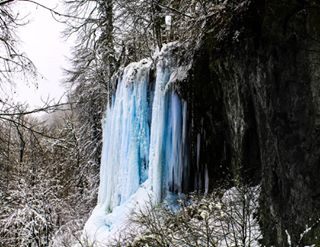 unesco cold icefall papuk waterfall frozen ice nature