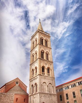 zadar stdonatus church arhitecture oldtown sky