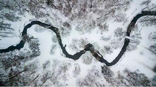 lithuania photooftheday river landscape nature beautiful aerial instagood dronephotography dronefly picoftheday instadaily drone dronestagram instamood photography contrast dji exposure winter kaunas djimavicpro