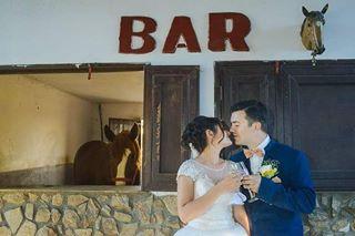 bar horse party portrait wedding