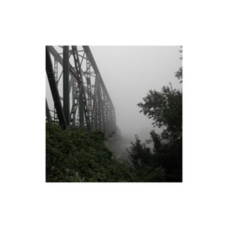 train fog departure bridge