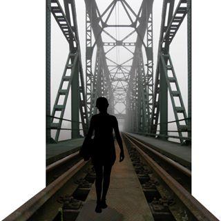 farewell suicide steel lost death day bridge walk trainbridge metro thegirlonthetrain departure woman foggy depression train danger fashion steelcontruction catwalk fog girl