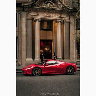 ferrari exoticcar nyc architecture racing royaltonhotel morganshotel motorsport manhattan luxury sportscar ferrari458italia
