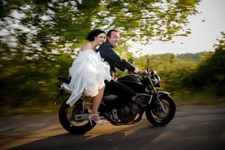 wedding love bride bike