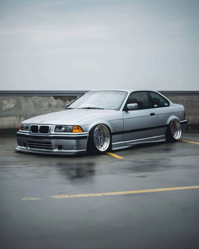 airride bmw e36 fitment grey low perfect slammed stance