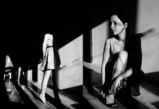 monochrome floor geometry contrast naturallight indoor collage weird sunset model blackandwhite girlnextdoor legs photography wide girl