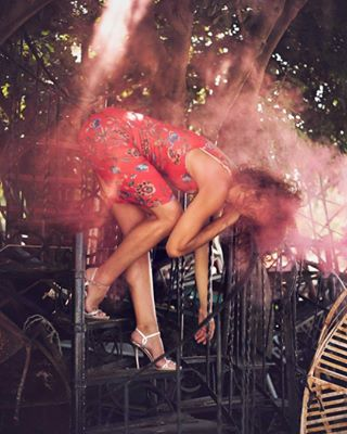 summer beauty performance ladder dancing body vintage photoart photooftheday smokebombs smoke city photography photographers colorfulsmoke oldstuff dancer center nikon reddress choreography athens trees artist warehouse