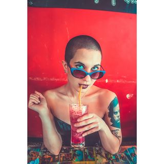 eyephotomagazine portrait_ig earthportraits greece athens canon color femalemodel shavedhead gothic beauty darkbeauty art model altmodel tattoed nickcave smoothie bar shadows saturated dark portraitphotography canongreece photographer portraiture portrait photoshoot photography