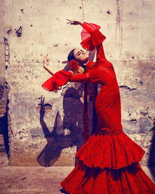 fashionphotography spain dancer flamenco dance photography red