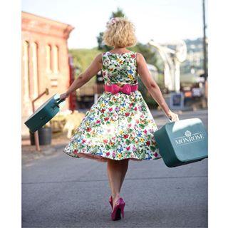 pettycoat toddington travel sunshine cotswolds smile photoshoot blonde railway holidays heels vacation