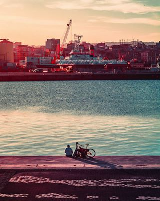 bike photography silhouette clouds landscape sunset love photooftheday colorful buildings catania people sea city urban sky man shadows