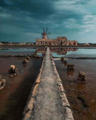 city love sicily photography clouds birds nature saltworks silhouette windmill landscape seagull landscapephotography reflections sea sky water photooftheday