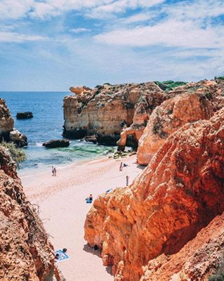 landscapephotography photography summer sea cliffs albufeira portugal seaside vibes nature seekthelight heat beautiful