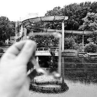 abandoned blackandwhite blackwater missingpart swimmingpool
