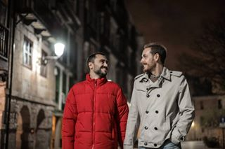 love cold europe portraitphotography photographer red españa reflex photoshoot happiness photography night gayboy november light avilés spain canon shoot gay asturias lgtb 50mm city portrait couple autumn boys lovers lightroom