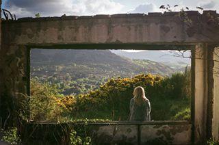 35mm walk summer photo blonde filmsnotdead dark film mountains portrait 35mmfilm ireland landscape light scan print photography poser nikon sugarloafmountain frame clouds view ponder beautiful filmphotography wicklow sun