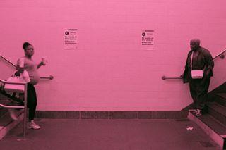 life ny pink pregnant subway walking wannagoback yaknow