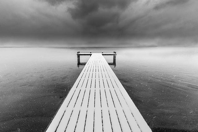 beach big_shotz_bw blackandwhite bnw bnw_captures bnw_greatshots bnw_kings bnw_life bnw_planet_2018 bnwtoday bw clouds ig_jettylove ig_shotz_bw jetty landscape monochrome ocean pocket_bnw sky snow sweden top_bnw westcoast
